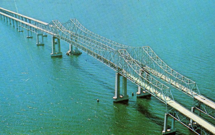 Another view of the old Skyway Bridge.