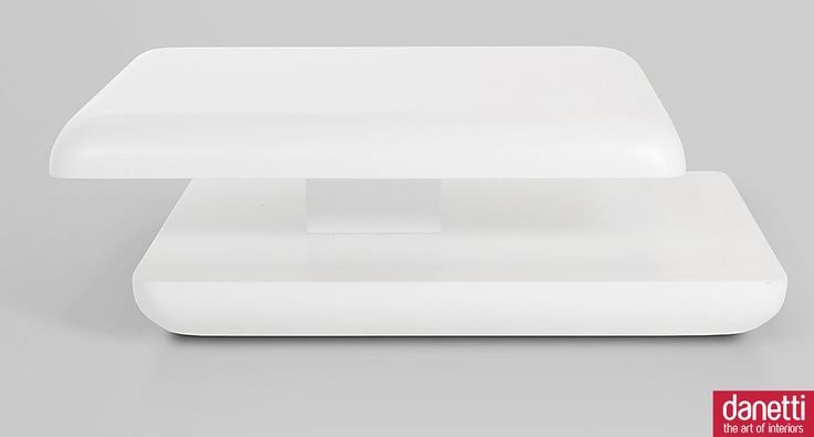 Stylish White High Gloss Coffee Table | Square Funky Occasional Table