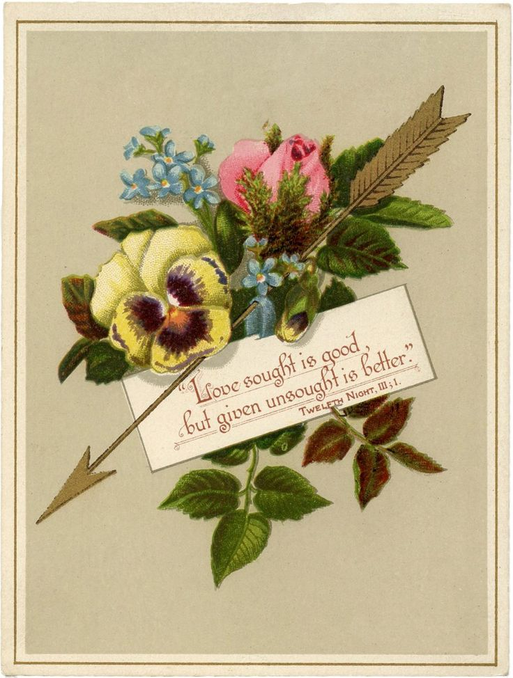 Lovely Vintage Golden Arrow Valentine Image! (via Bloglovin.com )