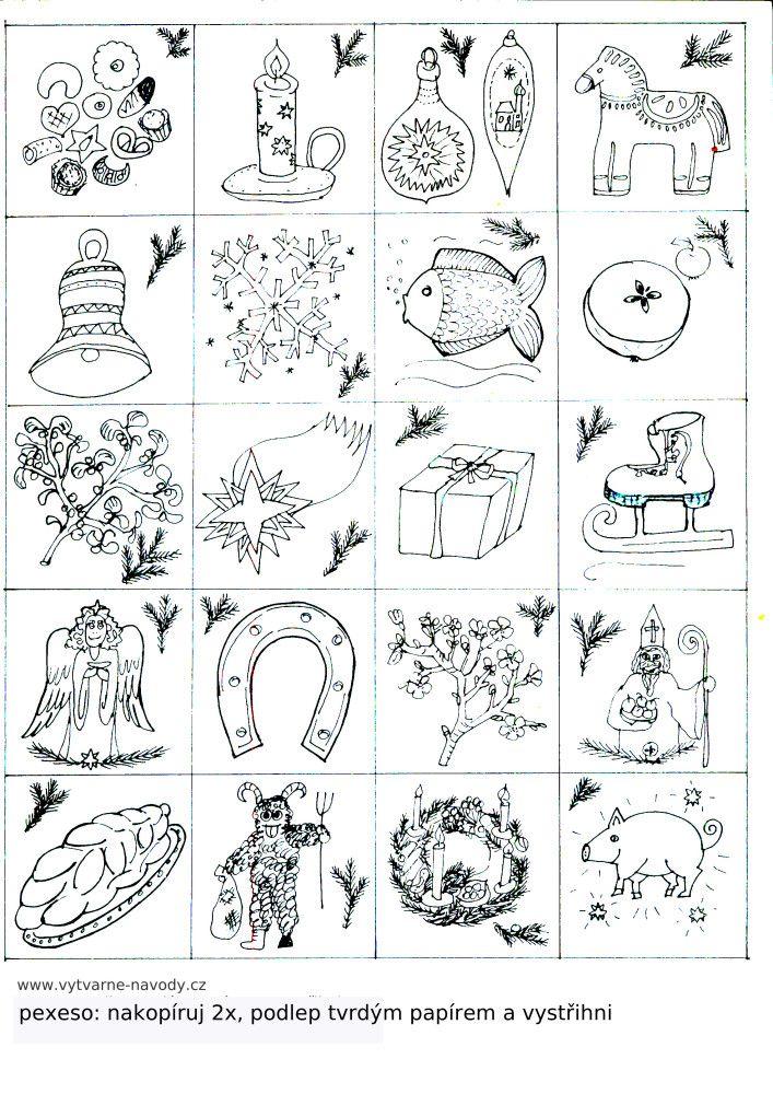 adventní kalendář — výtvarné návody a postupy na tvoření