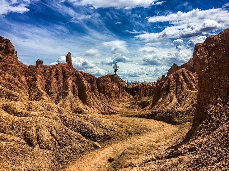This is how it looks like at the Desierto de la Tatacoa in #Colombia  truly surreal landscpe in the middle of a tropical climate. But what an interesting and beautiful place. And very hot and humid. We had a nice hike here and you can have too but be prepared with plenty of water and a camera!