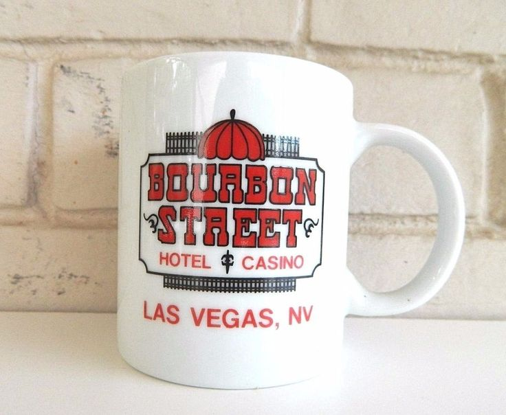 "Las Vegas Casino Coffee Tea Mug Bourbon Street Hotel Ceramic 4"""