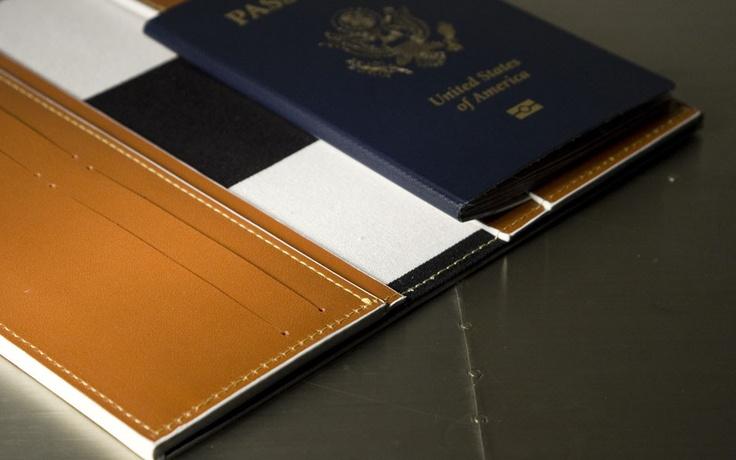 F/W 2012 Landmarks & Lions - Quantum Leather Passport Travel wallet
