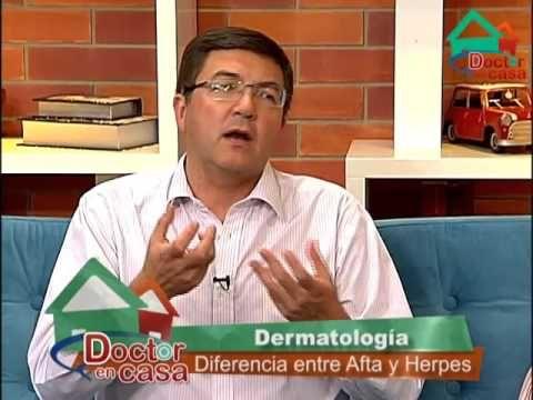 Diferencia Herpes Afta: Doctor en Casa - YouTube