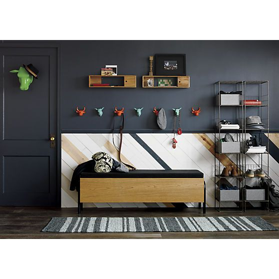 lift storage bench in ottomans, benches | CB2