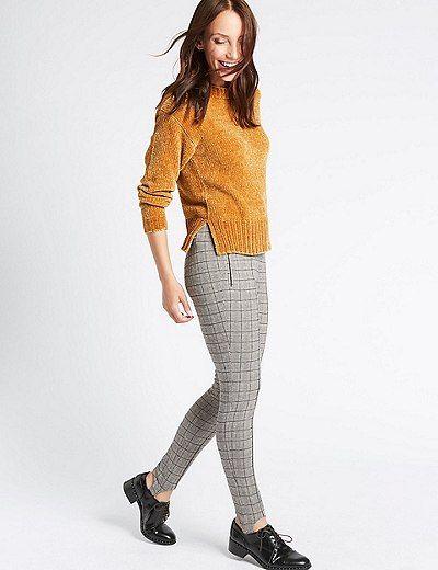 Checked Skinny Leg Trousers | Marks & Spencer London