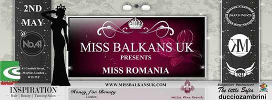 Miss Balkans UK presents Miss Romania