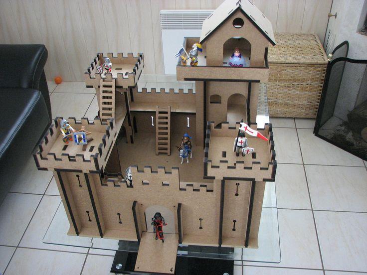 7 best Le château fort en carton de lu0027équipe Livres et Merveilles - faire son plan de maison soi meme