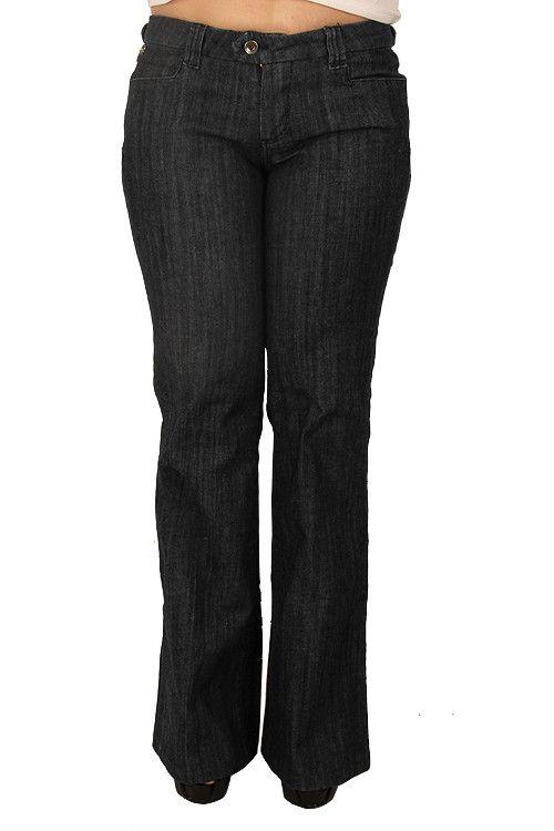 Parasuco 8AUDREY Low Rise Wide Leg Dark Blue Slim Fit Ladies Jeans
