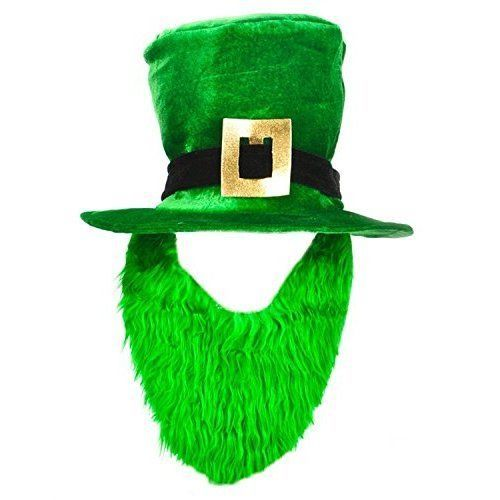 St Patricks Day Costume Green Leprechaun Top Hat And Beard Irish Green NEW #RhodeIslandNovelty