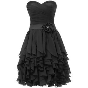 black bridesmaid dresses. Ok love the dress bur for the flower on the strape it needs to be a new shade