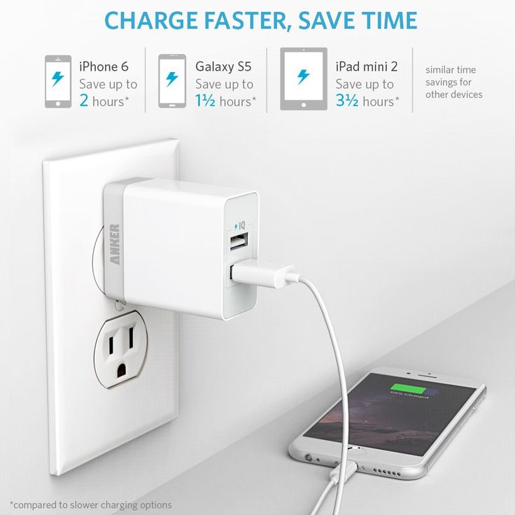 amazon com anker 20w 2 port usb wall charger with on usb wall charger id=41998