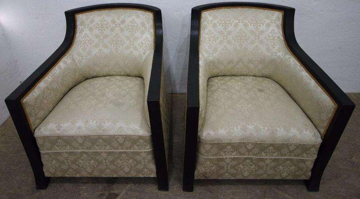 Set 2 Buc. Fotoliu Vintage Stil Art Deco, Lemn Masiv; Fotolii Bucuresti  • OLX.ro