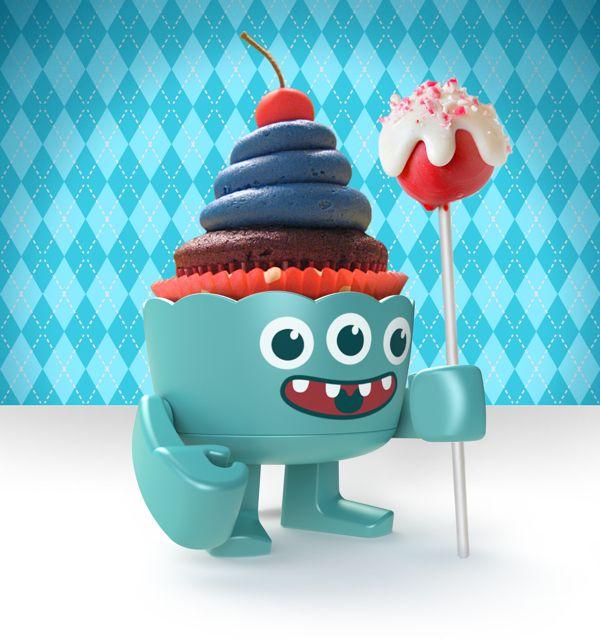 Cupcake Creatures by Mason Umholtz, via Behance