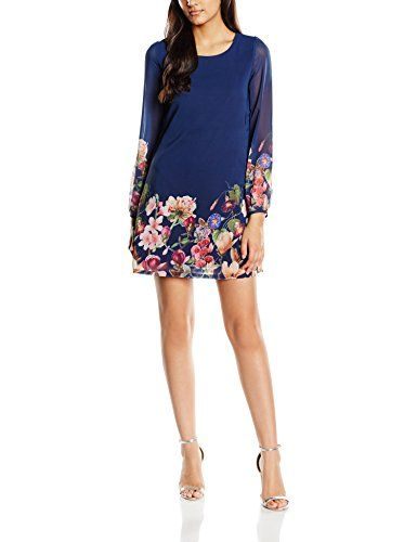 Yumi girls's Botanical Shift Floral three/4 Sleeve dress