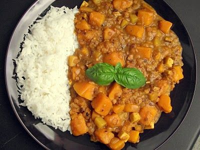 veganes Hokkaido-Kürbis-Curry - vegane Rezepte auf Laubfresser (Vegan Curry)