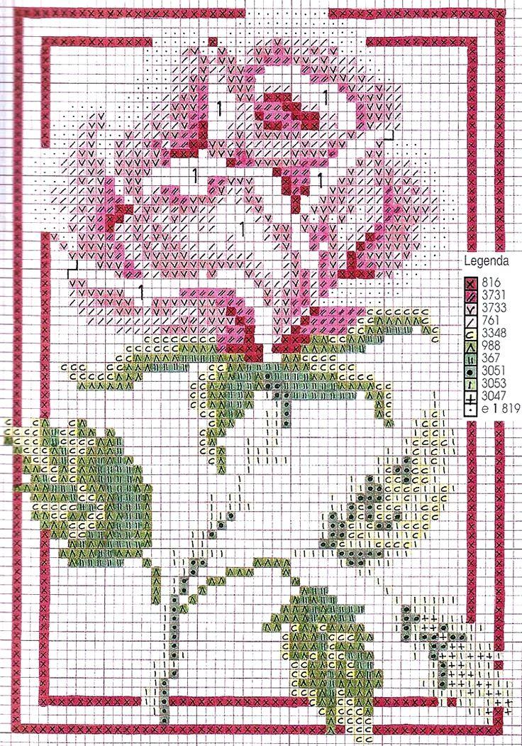 schema+punto+croce-quadretto+rose.jpg (750×1071)
