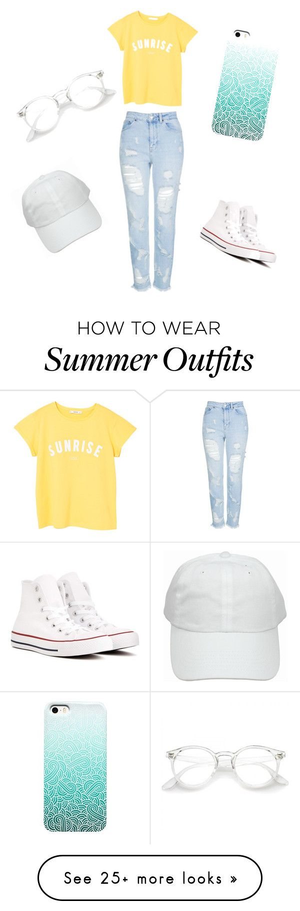 """Basic summer outfit ✨"" by stephk104 on Polyvore featuring MANGO, Topshop and Converse"