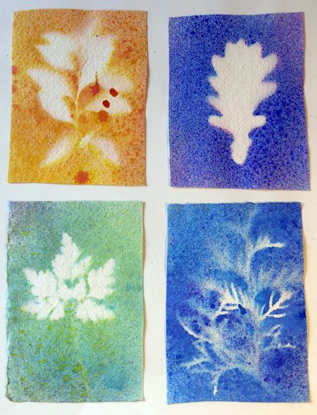 Watercolor in spray bottles. Love the appreciation of nature
