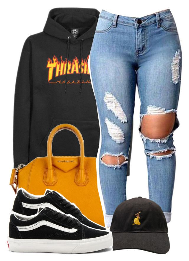 """""""Rocking Thrasher, now I'm rad now."""" by princess-alexis18 ❤ liked on Polyvore featuring Givenchy and Vans"""