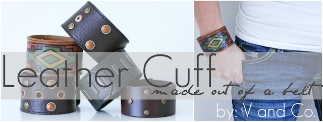 Leather Cuffs made from a belt