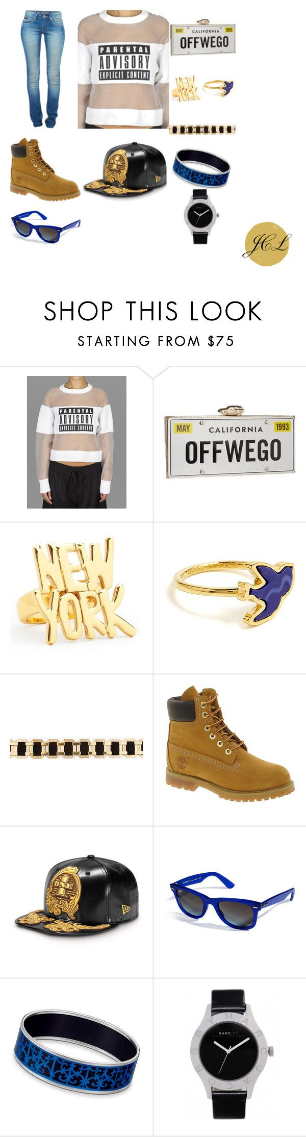 Calvin Klein Jeans by dame-j on Polyvore featuring Alexander Wang, Timberland, Kate Spade, Hermès, Marc by Marc Jacobs, Ray-Ban, Balmain, Calvin Klein Jeans, jeans and CalvinKleinJeans