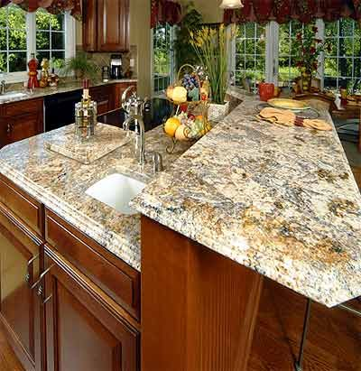 Granite is treated as the best material for the kitchen interiors as it not only provides a shiny look to the kitchen, but also it can be crafted into desired shape without much effort. Moreover, using granite in the kitchen provides a good overall durability and ensures longer life of the kitchen interiors.