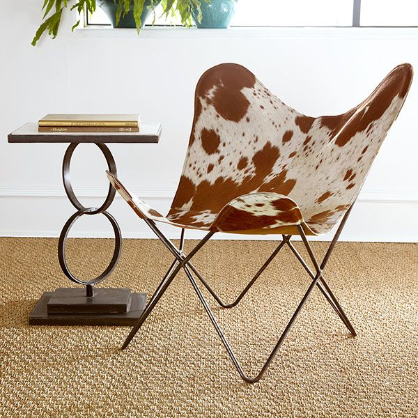 Wisteria - Furniture - Shop by Category - Chairs -  Cowhide Butterfly Chair - $699.00