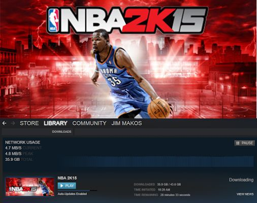 Getting ready for the weekend: Downloading Free-to-play NBA 2K15 at Steam!  Free Weekend: To celebrate All-Star weekend, from 2/12-2/16, NBA 2K15 will be 50% off and the game will be Free 2 Play!