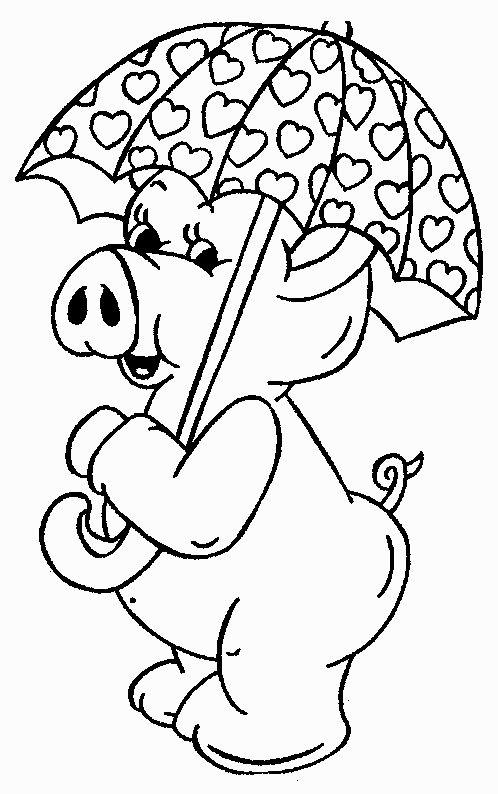 Dieren Kleurplaten voor kinderen. Kleurplaat en afdrukken tekenen nº 159