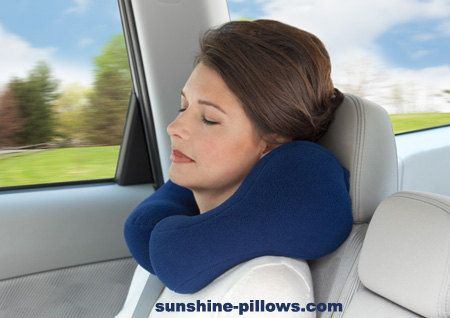 Ergonomic Neck Pillow For Travel Anti-pil Fleece by BiomedDesign