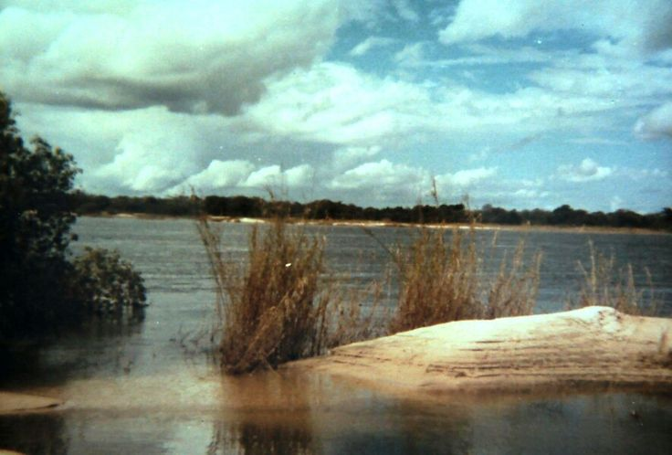 The Zambezi looking out over the river to Zambia 1978.