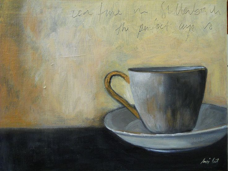 """Tea in Stellenbosch"" Acrylic on canvas"