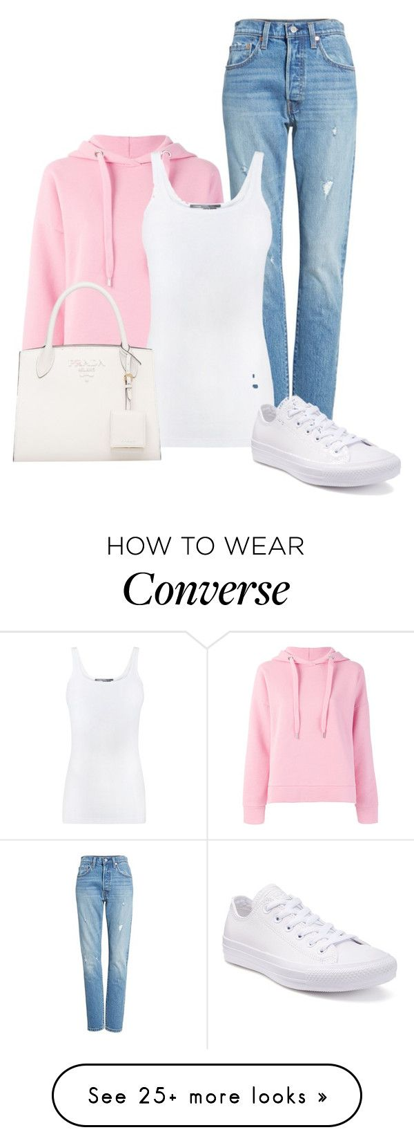 """Untitled #107"" by heal838 on Polyvore featuring Levi's, Closed, Vince and Converse"