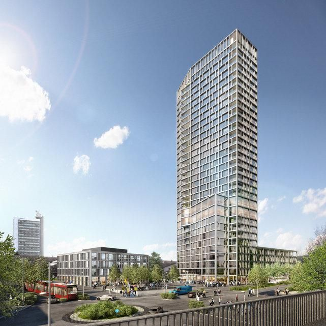 Hochhaus Bären will be Bern canton's tallest tower, image via Burkard Meyer Architekten