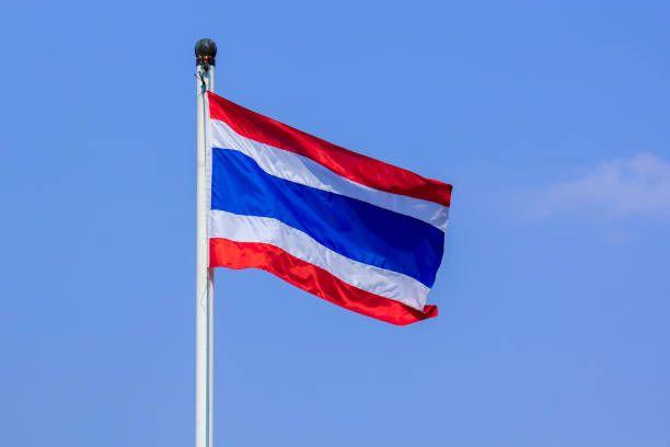 thailand flag on blue sky background