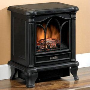 Duraflame 450 Black Electric Fireplace Stove DFS-450-2
