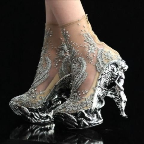 Alexander McQueen crystal shoes - Highly detailed Art for your feet