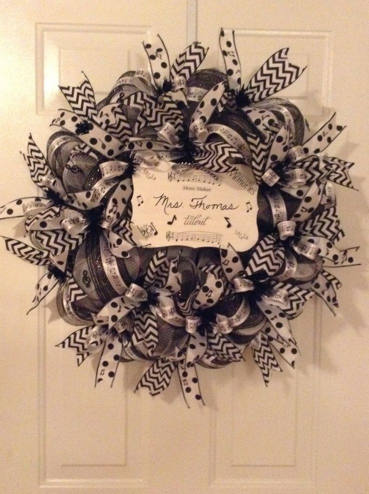 Musical Themed Wreath I Just Made For My Niece S Classroom