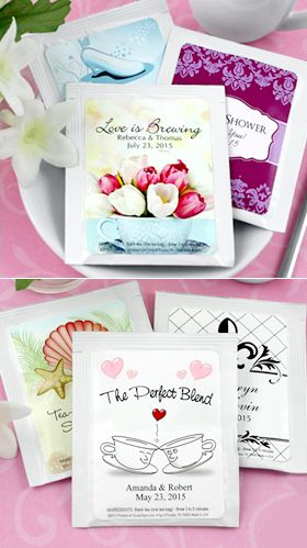 Personalized Wedding Tea