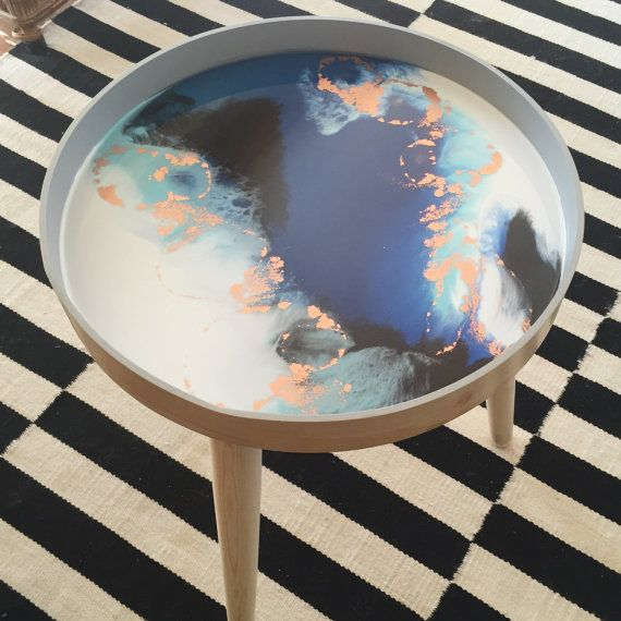 C U S T O M | Scandi resin art side table