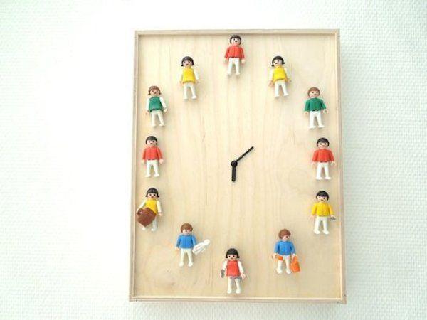 Reciclar juguetes viejos - reloj con playmobil #manualidades