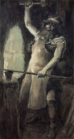 Phillip Medhurst presents 014/788 James Tissot Bible c 1899 Tubal-Cain Genesis 4:22 Jewish Museum New York