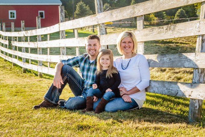 Family of three, small family, country family, fence, barn  Sabrina Walsh Photography
