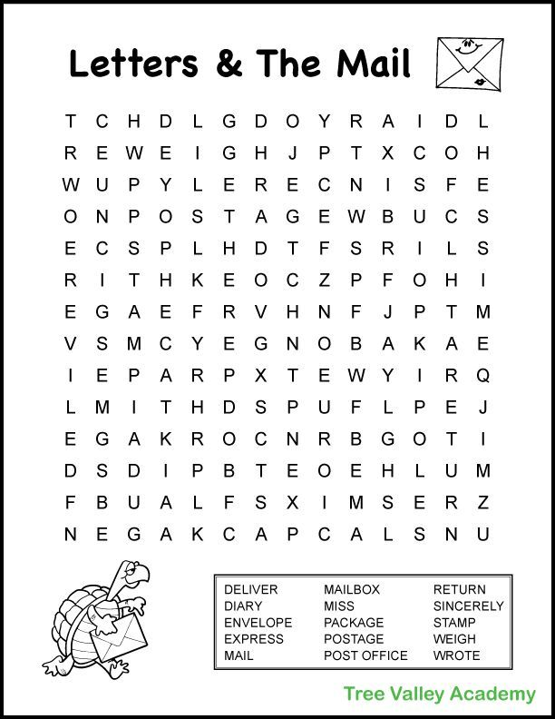 4th Grade Mail Theme Word Search In 2020 4th Grade Spelling Words 4th Grade Reading Worksheets Grade Spelling