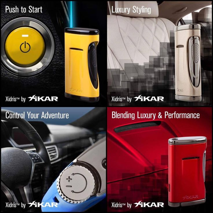 XIKAR Xidris Cigar Lighter Modern engineering and design meet luxury finish and performance in the new single flame Xidris lighter.