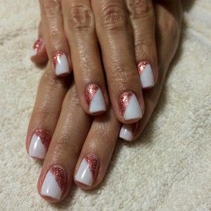 Paint your nail white, then use nail tape to give it some geometric flair. | 23 Gorgeous New Year's Eve Nails You Need To Try
