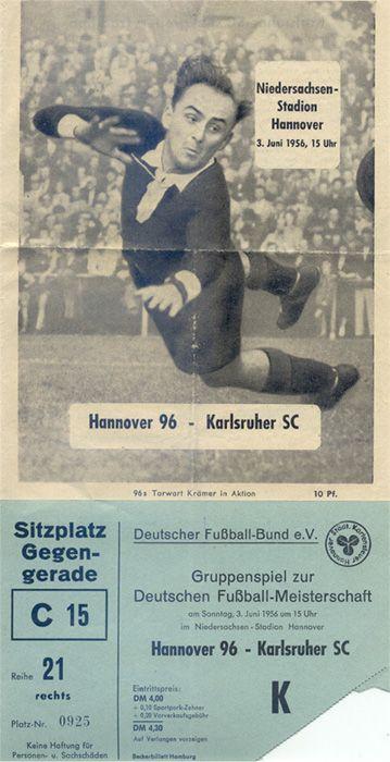 Hannover 96 gegen Karlsruher SC am 03.06.1956