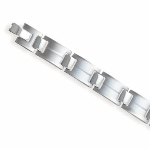 Sterling Silver 8.5 Inch Titanium rectangle and square alternating link bracelet. Sterling Silver Collection. $44.24. Save 25%!