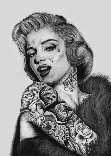 66 best images about marilyn monroe on pinterest for Marilyn monroe with tattoos poster